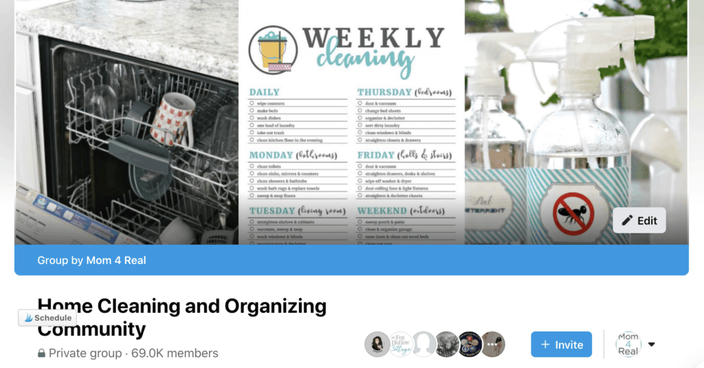 Home Cleaning and Organizing Facebook Group
