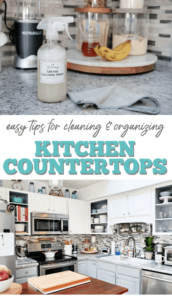 how to clean and organize kitchen countertops