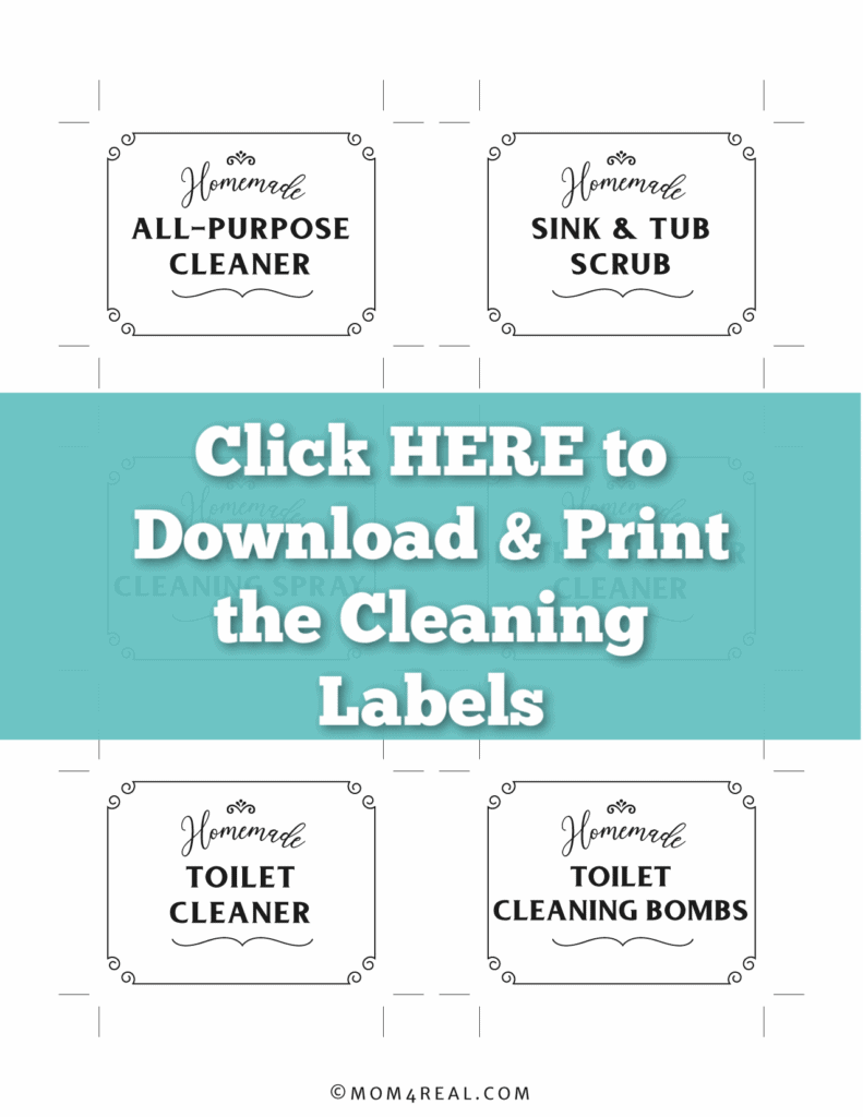 printable labels for homemade cleaners