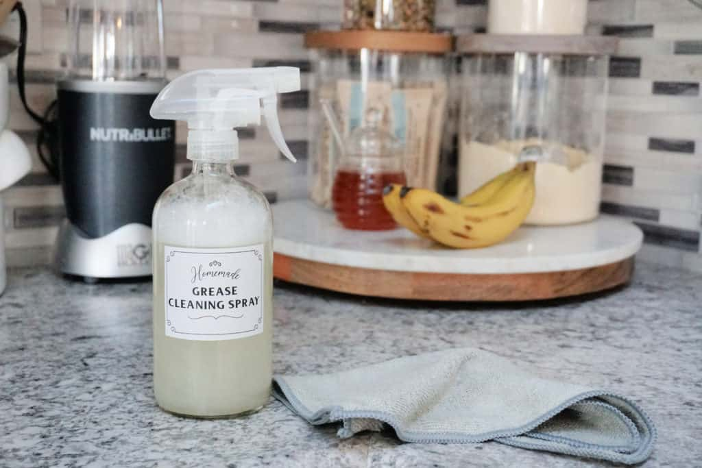 homemade grease cleaning spray