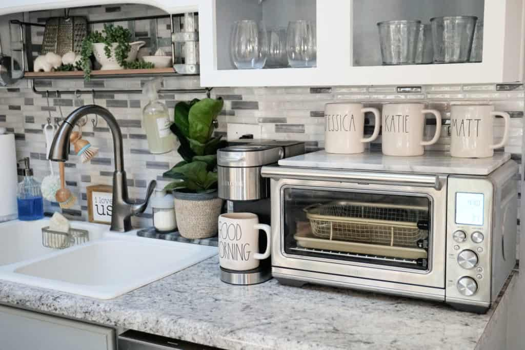 Breville smart oven air and Keurig on countertop