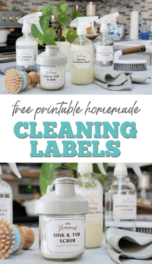 free printable homemade cleaning labels