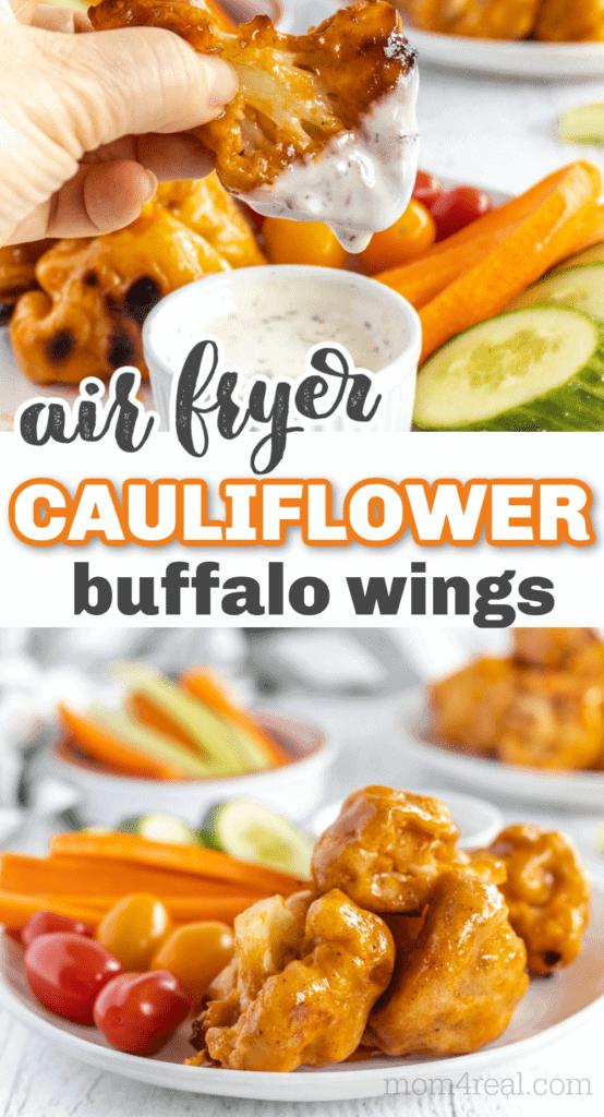 air fried cauliflower buffalo wings