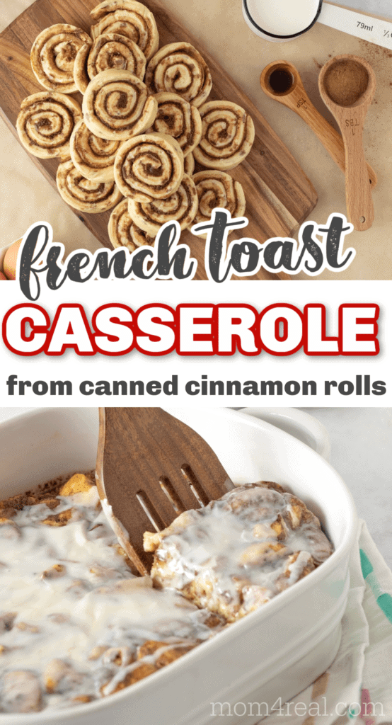french toast casserole using canned cinnamon rolls