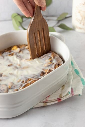 french toast casserole with icing