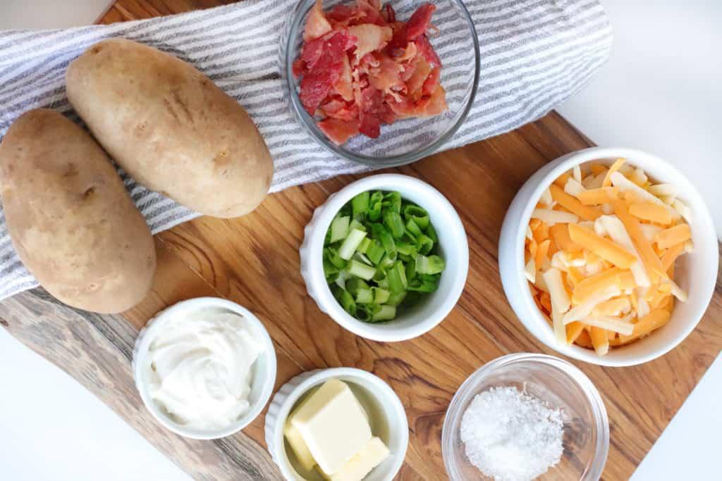 air fryer twice baked potatoes ingredients